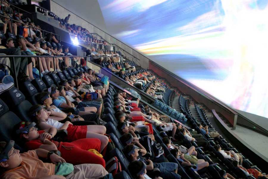 City of Arts and Sciences with children: Hemisfèric is an IMAX cinema
