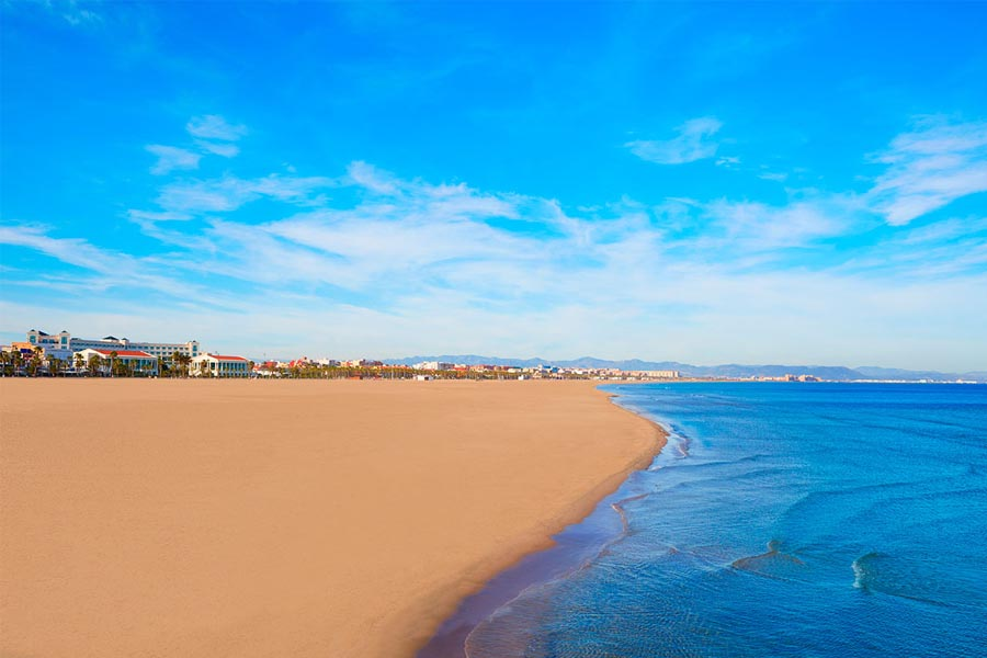 Playas de Valencia ciudad: la Malvarrosa