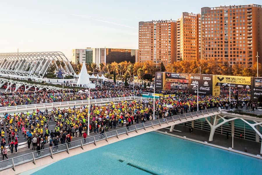 9a edición de la 10k Valencia Trinidad Alfonso y 39a Maratón el 1 de diciembre de 2019.